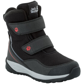 Jack Wolfskin Polar Bear Texapore High VC Chaussures Enfant, black/red